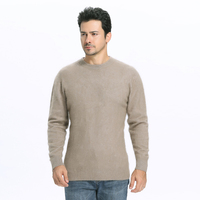 Zocept High Quality Men S Mink Cashmere Sweater 2016 Fashion Wnter Soft Warm Solid Color O