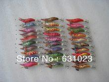 Senhor polvo deputado polvo, 15 peças 1.5 #, lula, gancho de lula, isca de pesca, cor aleatória misturada, 6cm,4g