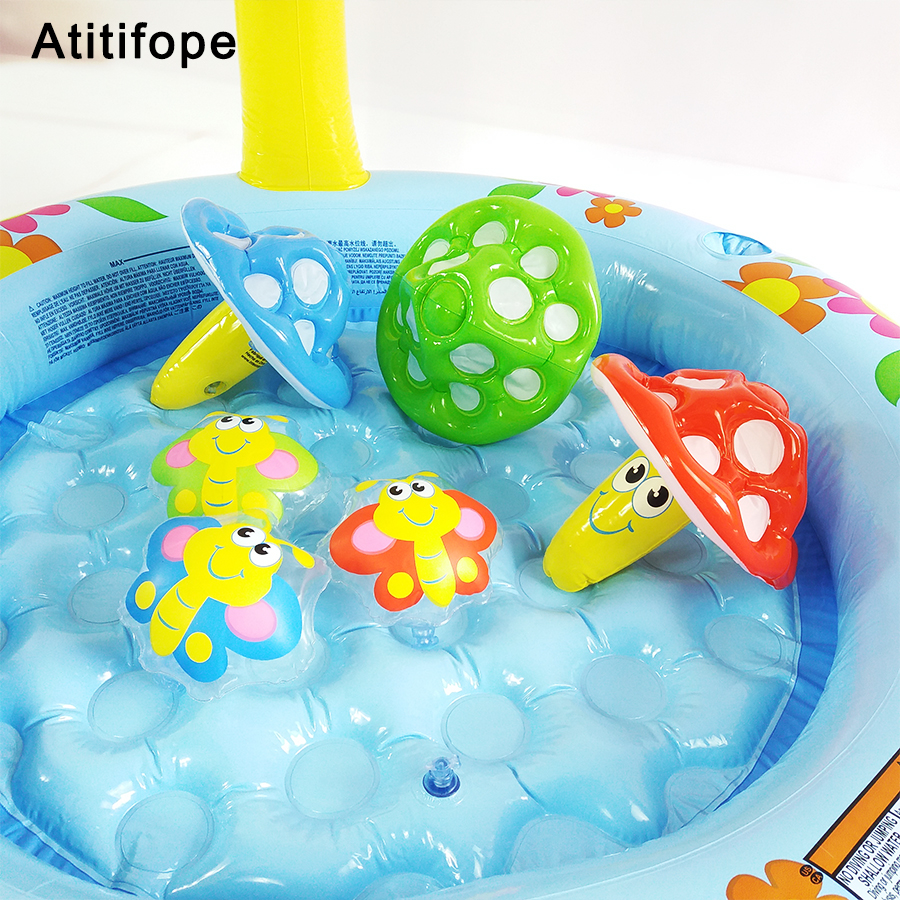 Swimming Pool Cute Interesting Starfish Shaped Top-ring Inflatable Support Plastic Puzzle Bright Colors Childrens Inflatable Pool Baby Bath Activity & Gear