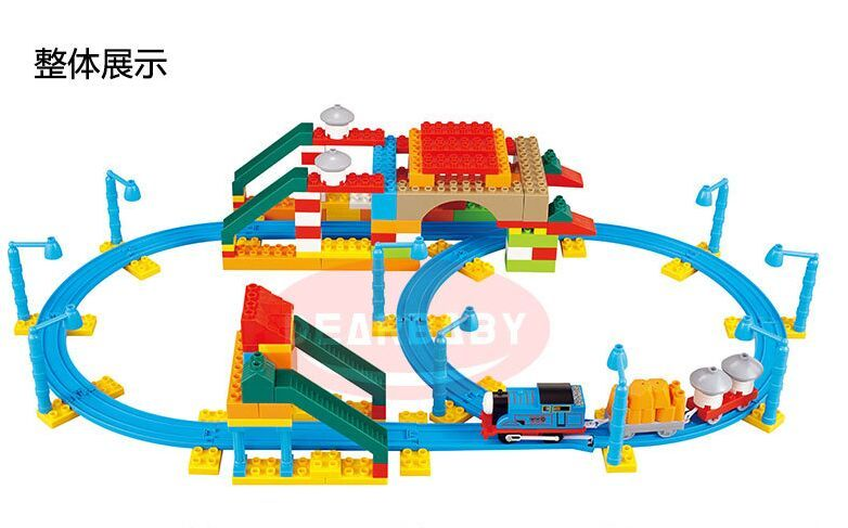 2016 Hotsale Thomas blocks track train set assembled toy puzzle toys Gift Boy Kids Toys Best Gifts In Stock