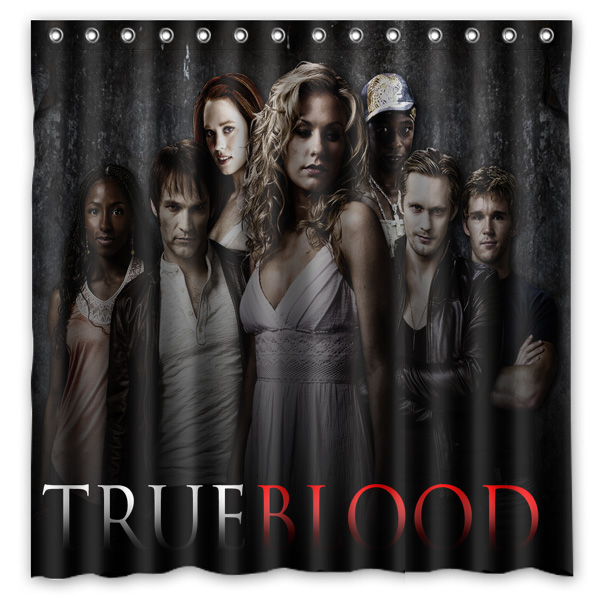 True Blood Pattern Creative Bath Shower Curtains Bathroom ...