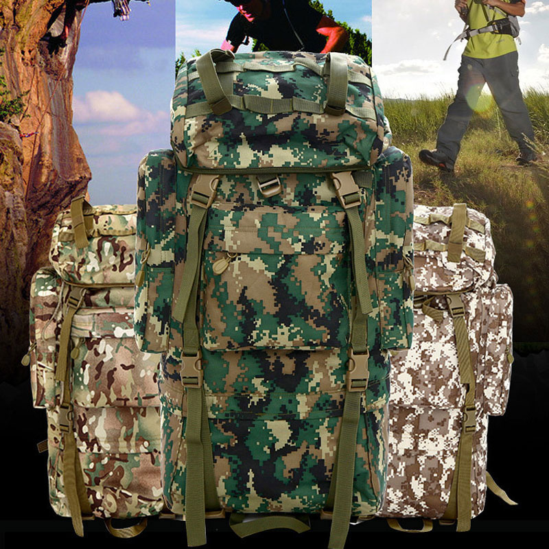 70L Large Capacity Waterproof Bags High-quality Nylon Camouflage Backpacks Woman men Hike Trek Travel Student Backpack