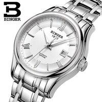 Suíça binger relógios femininos marca de luxo relógio feminino relógios mecânicos safira aço inoxidável montre femme b5002l|Relógios femininos| |  -