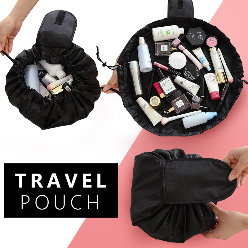 Women Drawstring Cosmetic Bag Travel Makeup Bag Organizer Make Up Case Storage Pouch Toiletry Beauty Wash Makeup Cosmetic Bag