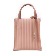 Fold Clear bag  2019 New bucket Fashion Transparent Womens Shoulder Messenger Beach Casual Shopping Bag bolsa feminina