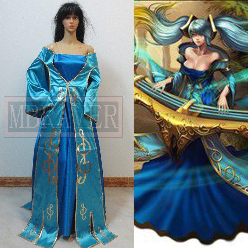 Lol Sona Buvelle Maven des cordes noël cosplay costume personnaliser pour toute taille