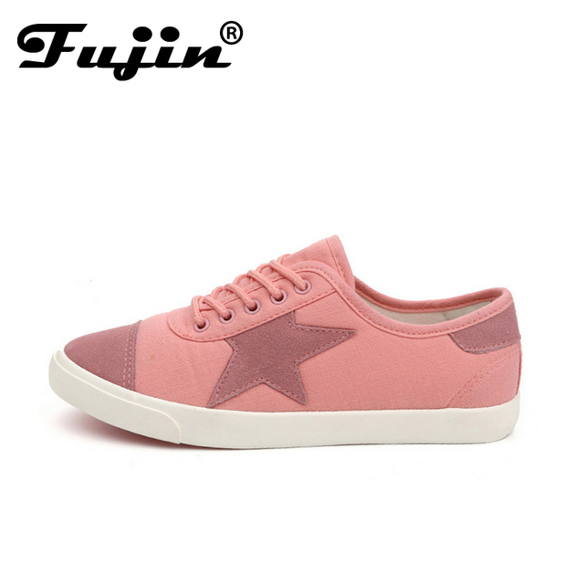 2017 star shoe Spring summer candy color with comfortable women canvas shoes simple College style female students flat shoes