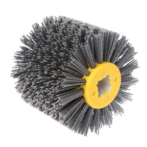 Image 3 - Deburring Abrasive Wire Drawing Round Brush Head Polishing Grinding Tool Buffer Wheel For Furniture Wood Sculpture Rotary Drill