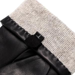 Image 5 - Guantes de cuero auténtico estilo Punk para mujer, guantes de cuero para abrigo, guantes de invierno de estilo Popular, con remaches