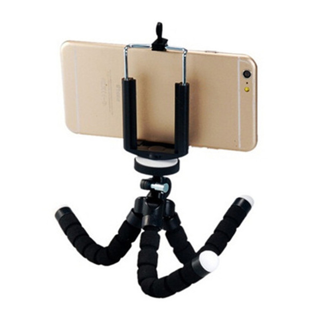 Mini Flexible Sponge Octopus Tripod For iPhone Xiaomi Huawei Smartphone Tripod for Gopro Camera Accessory With Phone Clip Holder