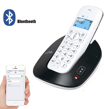 2,4 GHz DECT6.0 teléfono inalámbrico Bluethooth Home office Bluetooth teléfono fijo inalámbrico con uno dos auriculares