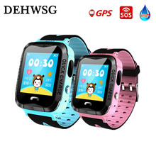 GPS Smart Watch VG6 Smart baby watch IP68 waterproof with camera SOS Call Location LED flashlight SIM Card smartwatch PK Q90 Q50(China)