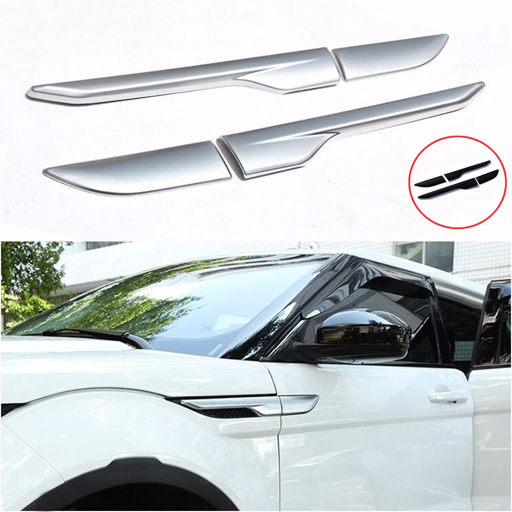 DEE Car Accessories for Land Range Rover Evoque Modified Sport Styling Car Side Wind Blade Shape Fender ABS Decorative ...