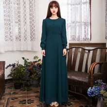 Islamic Clothing For Women And Abayas New Limited Adult Polyester Chiffon Formal Muslim Women Dress Pictures