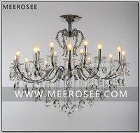 Large18 זרועות בציר כסף נברשת קריסטל תאורה קבועה ברק קריסטל תליית מנורת MD8459 D1080mm H890mm-בנברשות מתוך פנסים ותאורה באתר