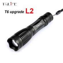 2017 Super Bright LED Flashlight CREE XM-L2 8000LM Lumens Zoomable T6 LED Torch Lantern Waterproof Flashlight Linternas