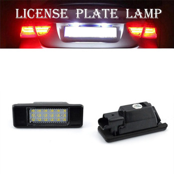 1Pair Car License Plate Light LED for Peugeot 207 308 Citroen Berlingo C2 C3 Pluriel Baujahr 2004 - 2009 C4 C5 Limousine C6 DS3 image