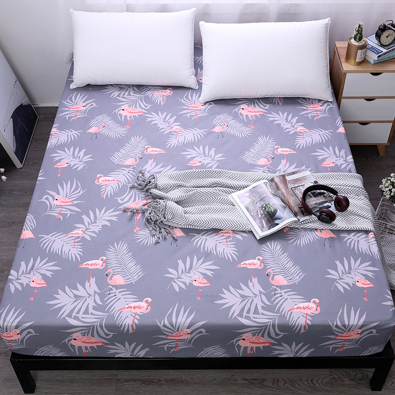 mecerock 100 polyester bed sheet with elastic band mattress protector printing fitted sheet. Black Bedroom Furniture Sets. Home Design Ideas