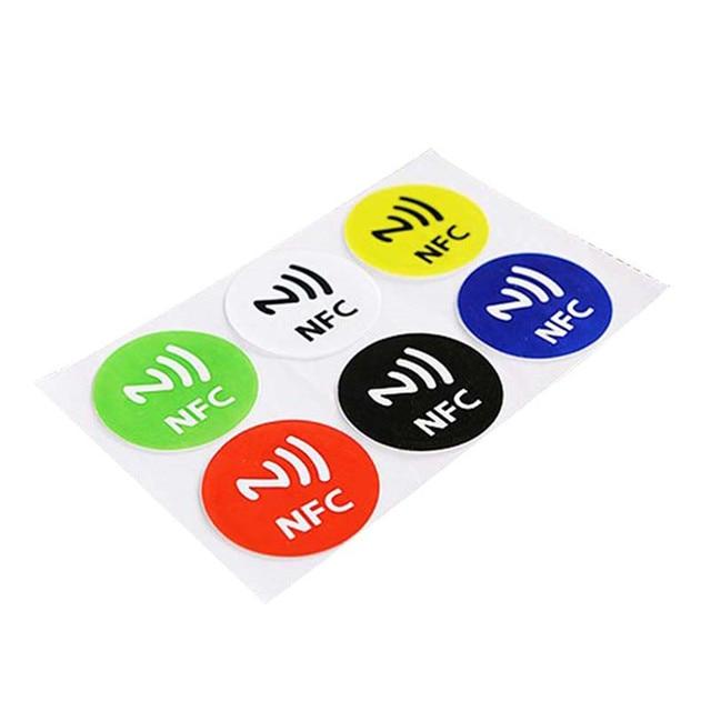 (6 יח'\חבילה) NFC תגיות מדבקות NTAG213 NFC תגיות RFID דבק תווית מדבקת אוניברסלי Lable Ntag213 RFID תג עבור כל NFC טלפונים