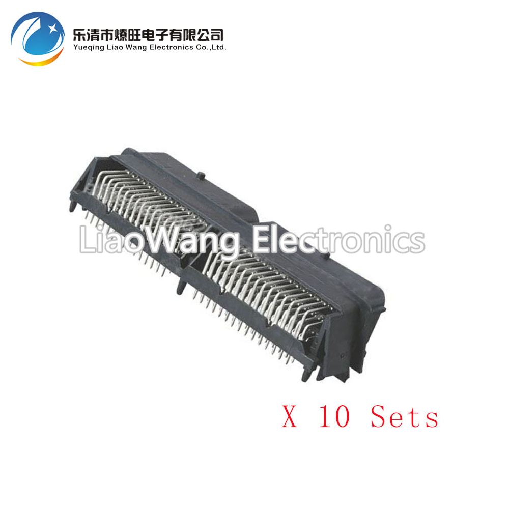 10 Sets 90 pin automotive computer Welded board Automotive computer control system with terminal DJ7901-1.5-10 90P connector automotive engine computer board 28087079 3601200b e07