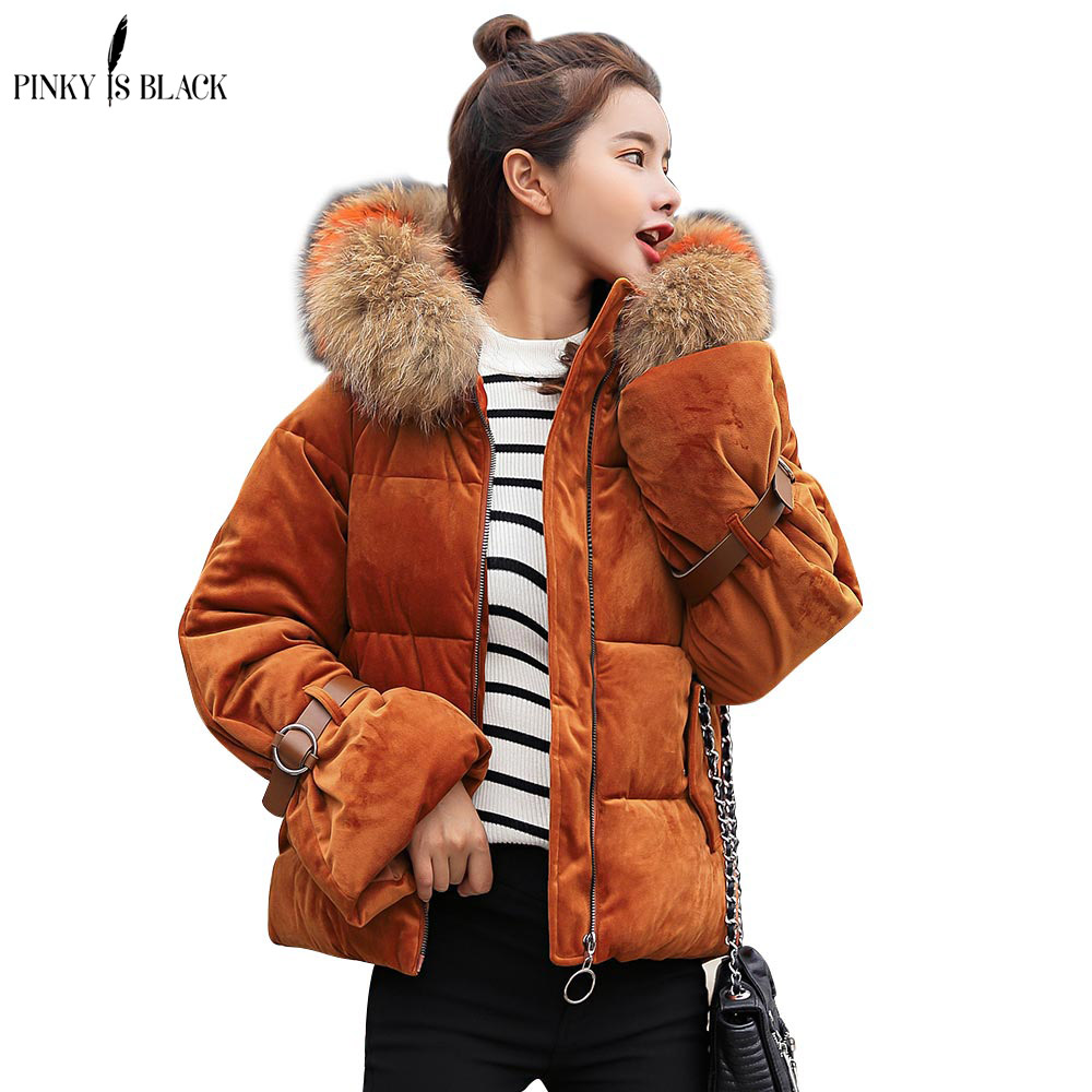 Pinky Is Black 2018 winter jacket women short cotton-padded Hooded jacket   parka   female wadded jacket outerwear winter coat women