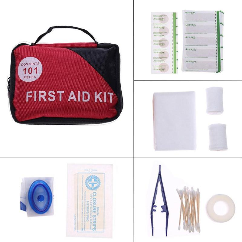 101pcs Set Outdoors Portable Small Emergency Storage Bag First Aid Kit Pill Case Storage Organizer for Outside Travel
