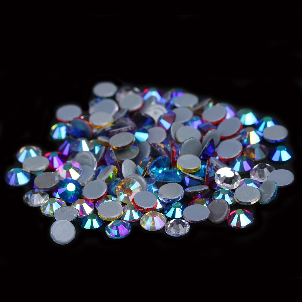 Hotfix Rhinestones Crystal Rhinestone With Glue Backing Iron On Perfect For Clothes Shoes Dresses DIY Mixed AB Colors