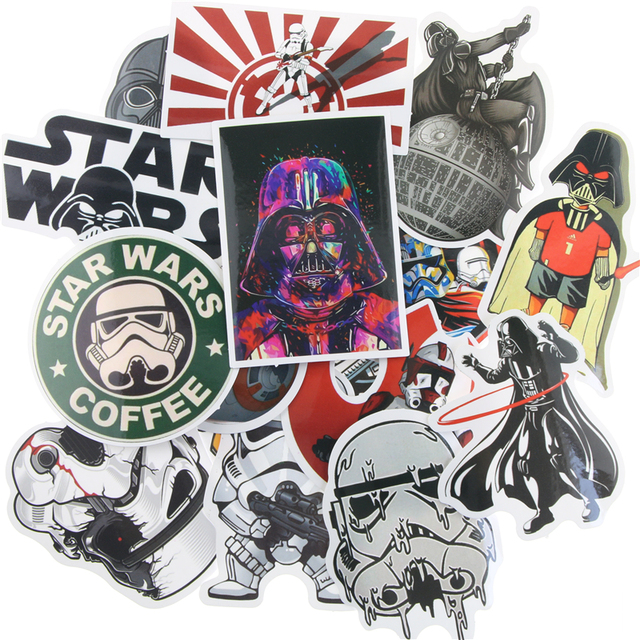 25pcs kinds star wars waterpoof fuel cap creative sticker for skateboard laptop luggage fridge phone styling