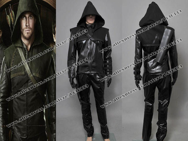 Arrow Cosplay Oliver Queen Costume Outfit Black Suit Uniform Well Designed Fast Shipping & Arrow Cosplay Oliver Queen Costume Outfit Black Suit Uniform Well ...