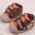 Super Qualidade 1 pair primavera Do Bebê Crib shoes Primeiros Walkers + 3-12Month, antiderrapantes crianças boy Macio Sole, não-deslizamento Infantil/Criança calçado