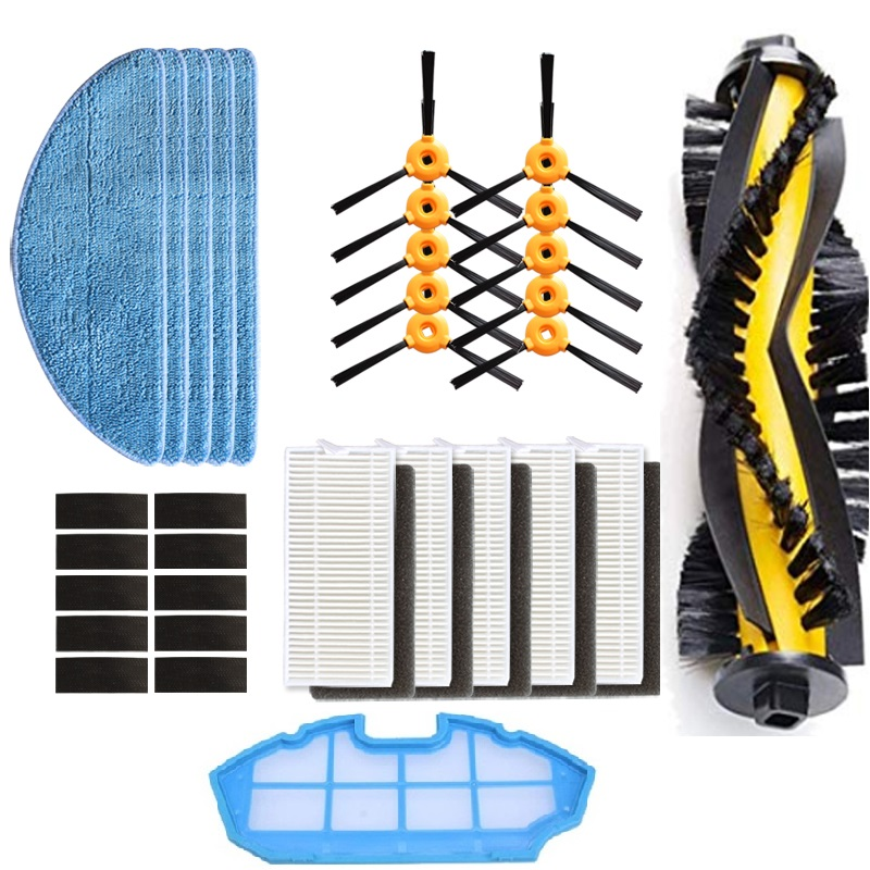 For Robot Aspirador Conga Excellence 990 5040 Aqua V710,Eufy RoboVac 11 Robot Cleaner Parts Main Side Brush Filter Mop Cloth