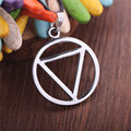 2015 New Arrival Naruto Same Sample Necklace Round Triangle Shape Necklace Chain Silver Color High Quality