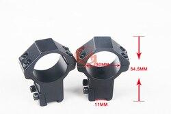 2 uds. Soportes de alto perfil anillos de 30mm para 11mm Weaver Picatinny HT2-0009 de cola de Milano