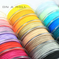 0.5mm  Nylon Cord Thread Chinese Knot Macrame Cord Bracelet Braided String DIY Tassels Beading  45m/roll No18~34