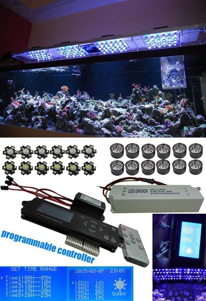 Sans fil Dimmable Led Élèvent La Lumière 150 w Blanc Bleu Puce Led Programmable à Spectre Complet A Mené La Lumière D'aquarium pour les Coraux avec timmer