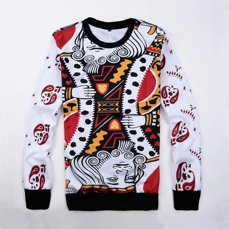 New harajuku mens womens pullovers geative hoodies playing