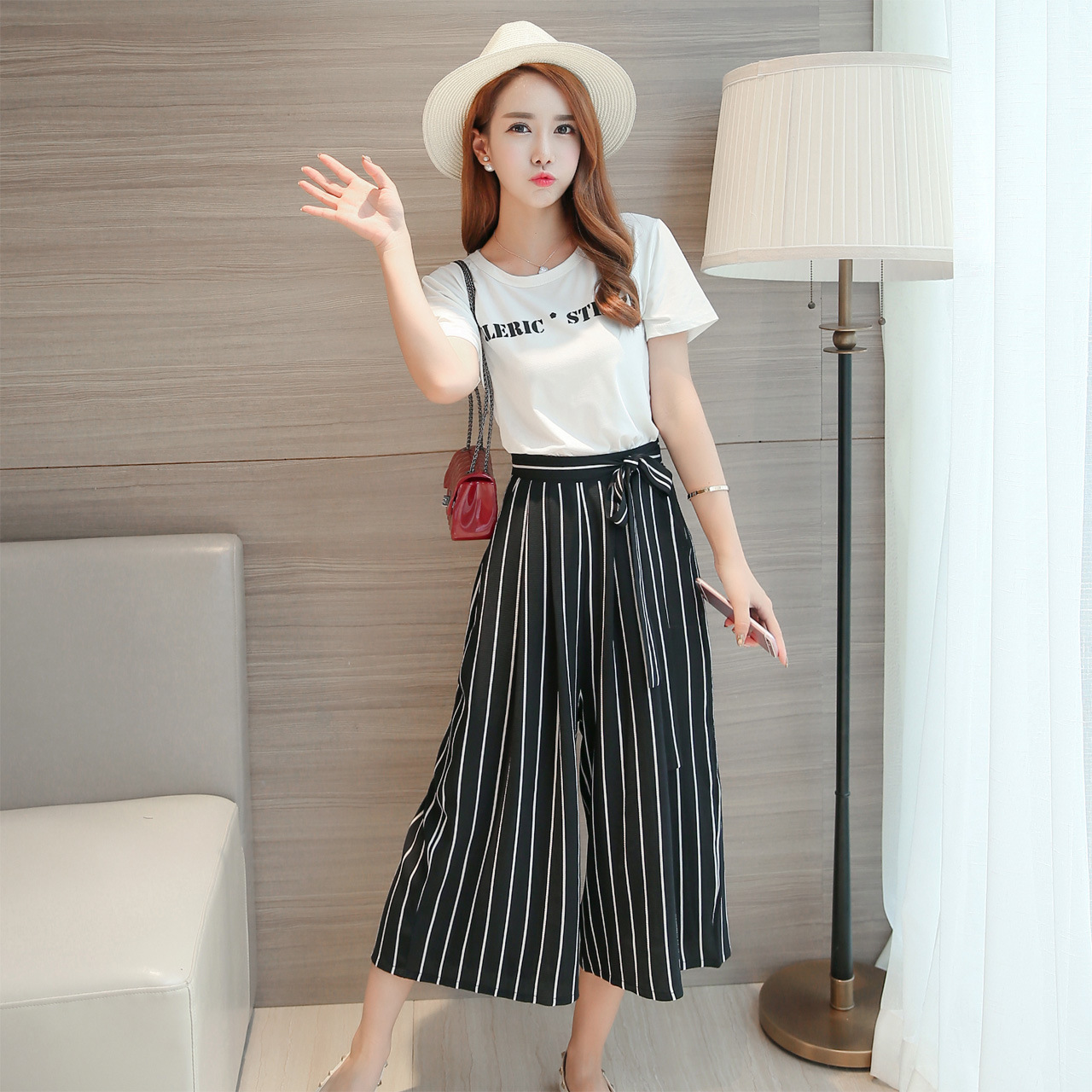 Black Striped Pants Women Promotion-Shop for Promotional Black ...