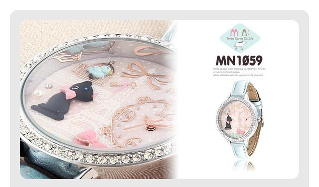 836869e326f8 Sweety Girls Favorita Estilo Coreano Hecho A Mano de Arcilla Cristales  Mujeres Vestido de Cuarzo Reloj