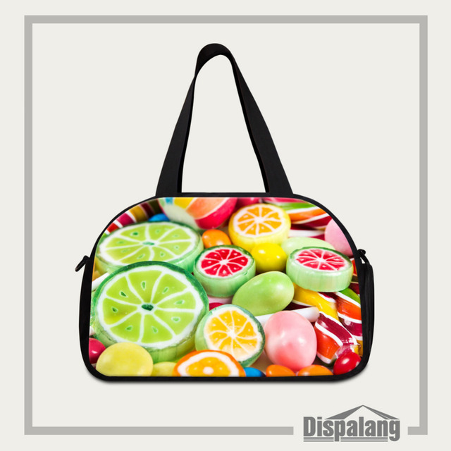 Dispalang Candy Print Travel Handbag For Women Men Luggage Duffle Bag Large  Capacity Carry On Shoulder Bag Cute Duffel Bags 83bfb77d0a