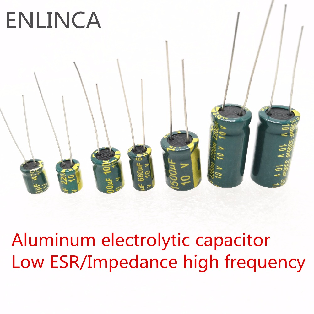 10pcs/lot H202 2200uf16V Low ESR/Impedance high frequency aluminum electrolytic capacitor size 10*20 16V 2200uf