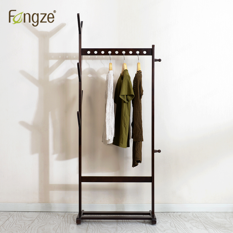 FengZe Furnishing FZ936 Modern Simplicity Cloth Hanger Hats Rack Solid Wood Living Standing Hanger Scarves Hat Bag Clothes Shelf fengze furnishing fz821 modern solid wood shoes storage multifunction solid wood flower rack standing plants display cabine