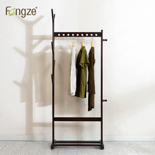 Furniture - Home Furniture - FengZe Furnishing FZ936 Modern Simplicity Cloth Hanger Hat Rack Solid Wood Living Standing Hanger  Scarves Hat Bag Clothes Shelf