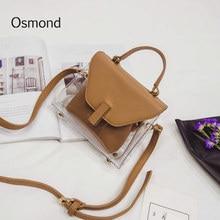 AEQUEEN Female Transparent PVC Handbags Women PU Leather Bags Set Clear  Small Flap Crossbody Bag Ladies 52c0be99c4f87