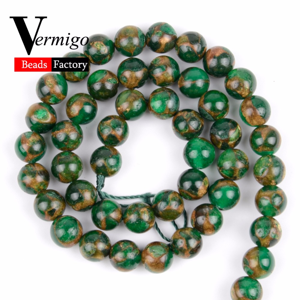"""10mm Green Opal Gemstone Matte Round Loose Spacer Beads For Jewelry Making 15/"""""""