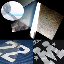 5cm width Safety Reflective Heat transfer Vinyl Film DIY Silver Iron on Tape For Clothing
