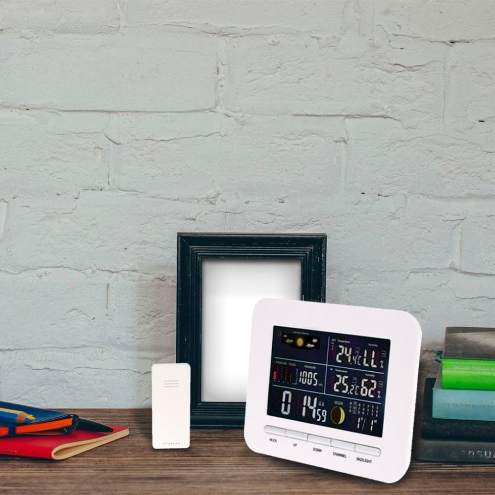 Humidity MeterWireless Barometer Weather Station Thermo-Hygrometer Rain Glass Humidometer Temperature Gauge Clock Indoor Oudoor
