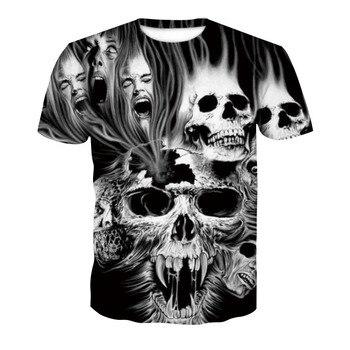 2018 New Mens Summer Skull Poker Print Men Short Sleeve T-shirt 3D T Shirt Casual Breathable T-shirt Plus-size T-shirt 1