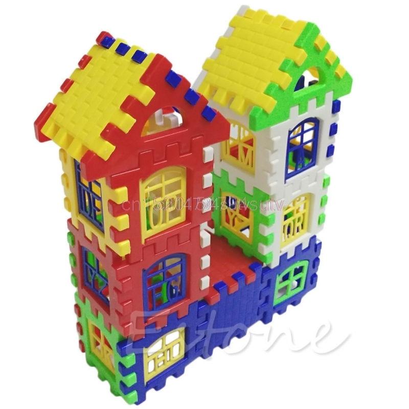 Bayi Kanak-kanak Kanak-kanak Blok Bangunan Rumah Pendidikan - Mainan pembinaan - Foto 4