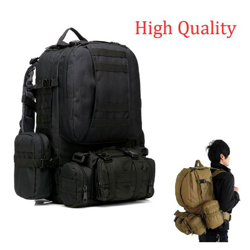 New 50L Molle Tactical Assault Outdoor Military Rucksacks Backpack Camping Bag Large  Free Shipping Wholesale free shipping men women unisex outdoor military tactical backpack camphiking bag rucksack 50l molle large big ergonomic gear
