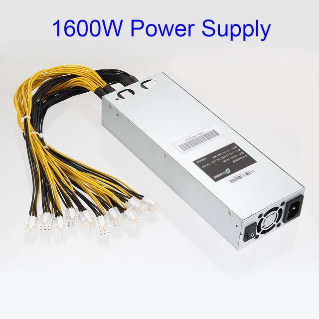 1600W APW3 Mining Machine Power Supply for Antminer Miner S9 S7 L3+ D3 EM88